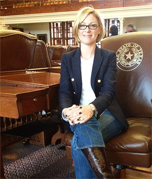 Representative Sarah Davis on the House floor